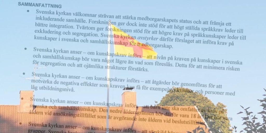 Svenska kyrkan vill dela ut medborgarskap